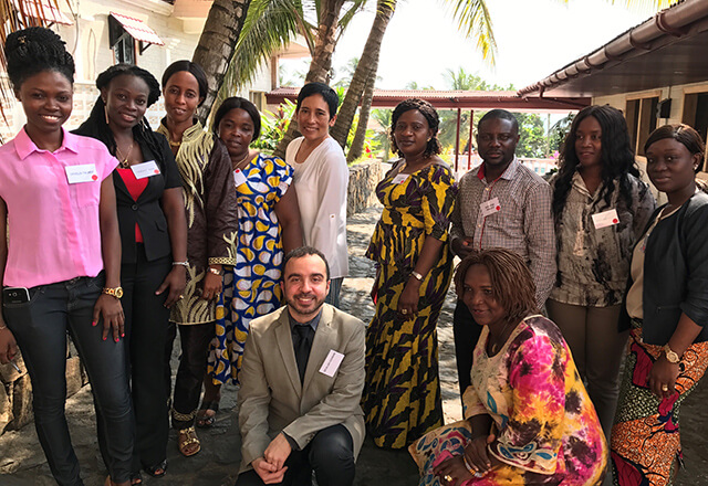 Dr. Allen Eghrari in West Africa